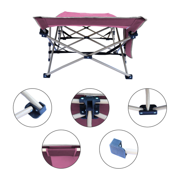 Osage River Camping Cot Portable Foldable Sturdy Durable Supports Adults Kids up to 450 lbs for Travel, Outdoors Beach, and Sleepovers with Bed Carrying Case.