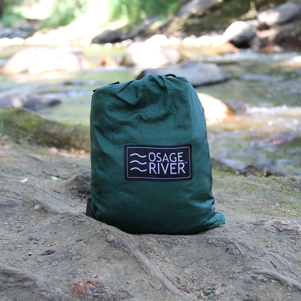 Single Hammock and Rain Fly Bundle, Includes Tree Straps, Carabiners, and Stuff Sack