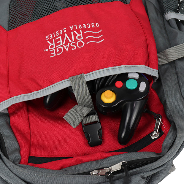 Osage River Retro Gaming Backpack with Protective Sleeve for Laptop, Console, and Accessory Storage