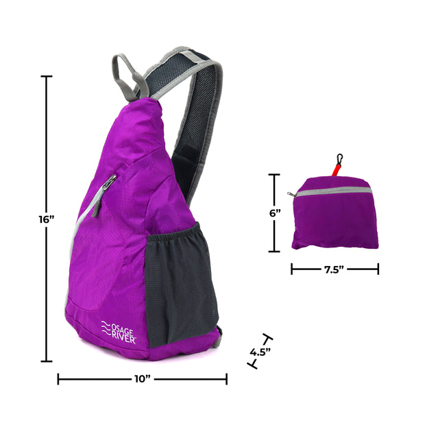 Packable Daypack, Women's Crossbody Sling Bag for Hiking and Travel, Small and Lightweight