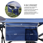 Deluxe Big and Tall Folding Camp Cot with Built-in Pillow