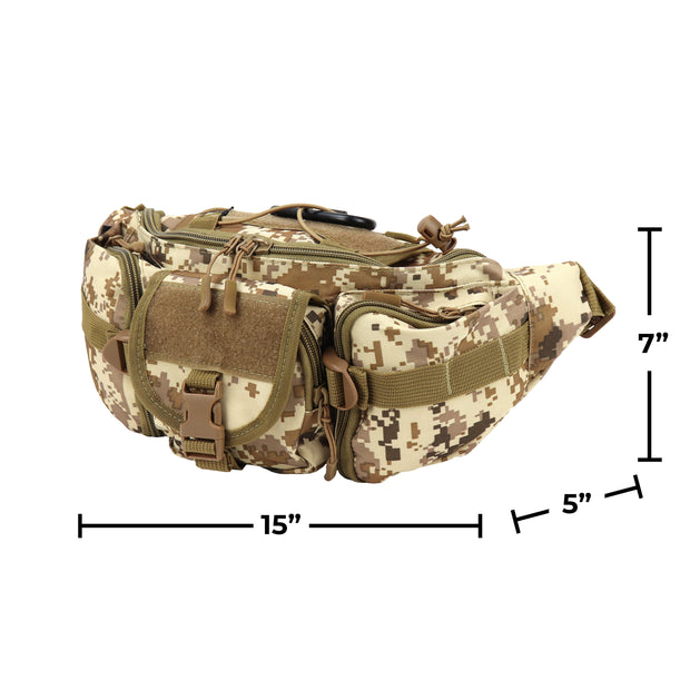Osage River Fishing Tackle Bag, Waist Fanny Pack Portable Storage, Crossbody Sling Bag