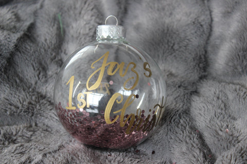 Clear Glass Christmas Ornament