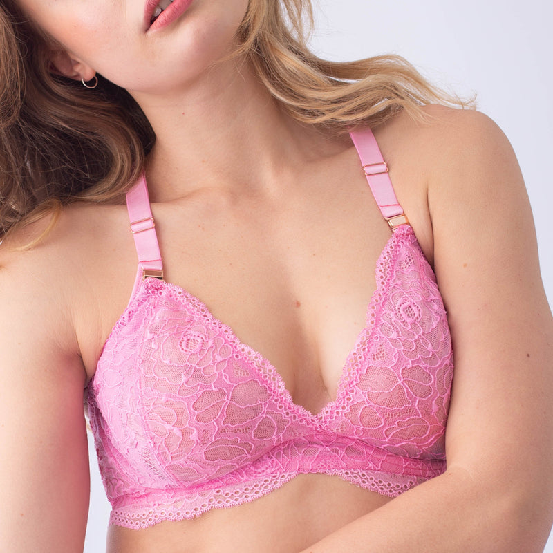 heroine fuschia plunge projectme nursing and maternity bra