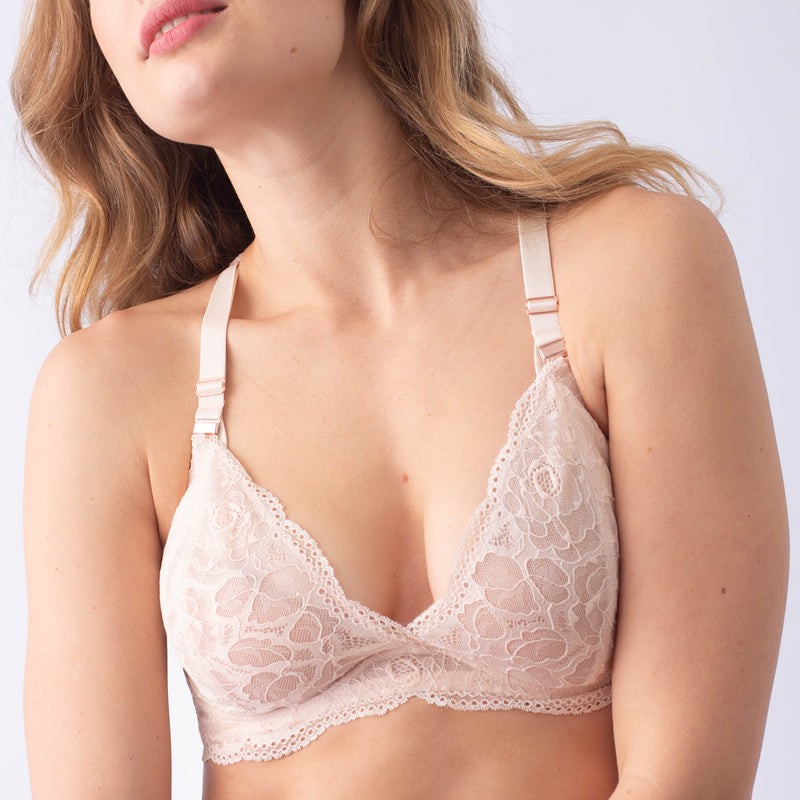 HEROINE PLUNGE LACE BACK SHELL NURSING BRA - FLEXI UNDERWIRE
