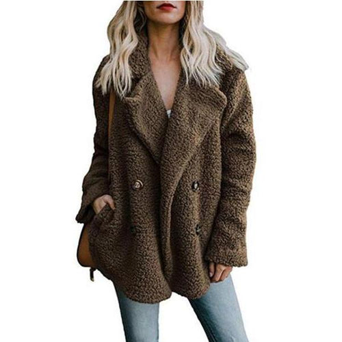 Solid Color Warm Coat