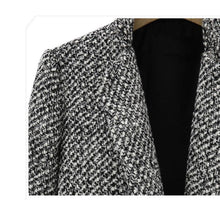Load image into Gallery viewer, Houndstooth Coat Slim  Overcoat