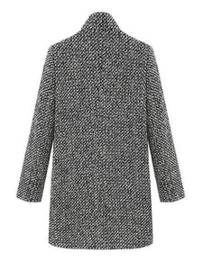 Houndstooth Coat Slim  Overcoat