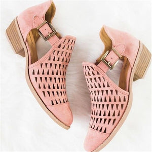 Fashion Elegant Women's stenciled chunky sandals