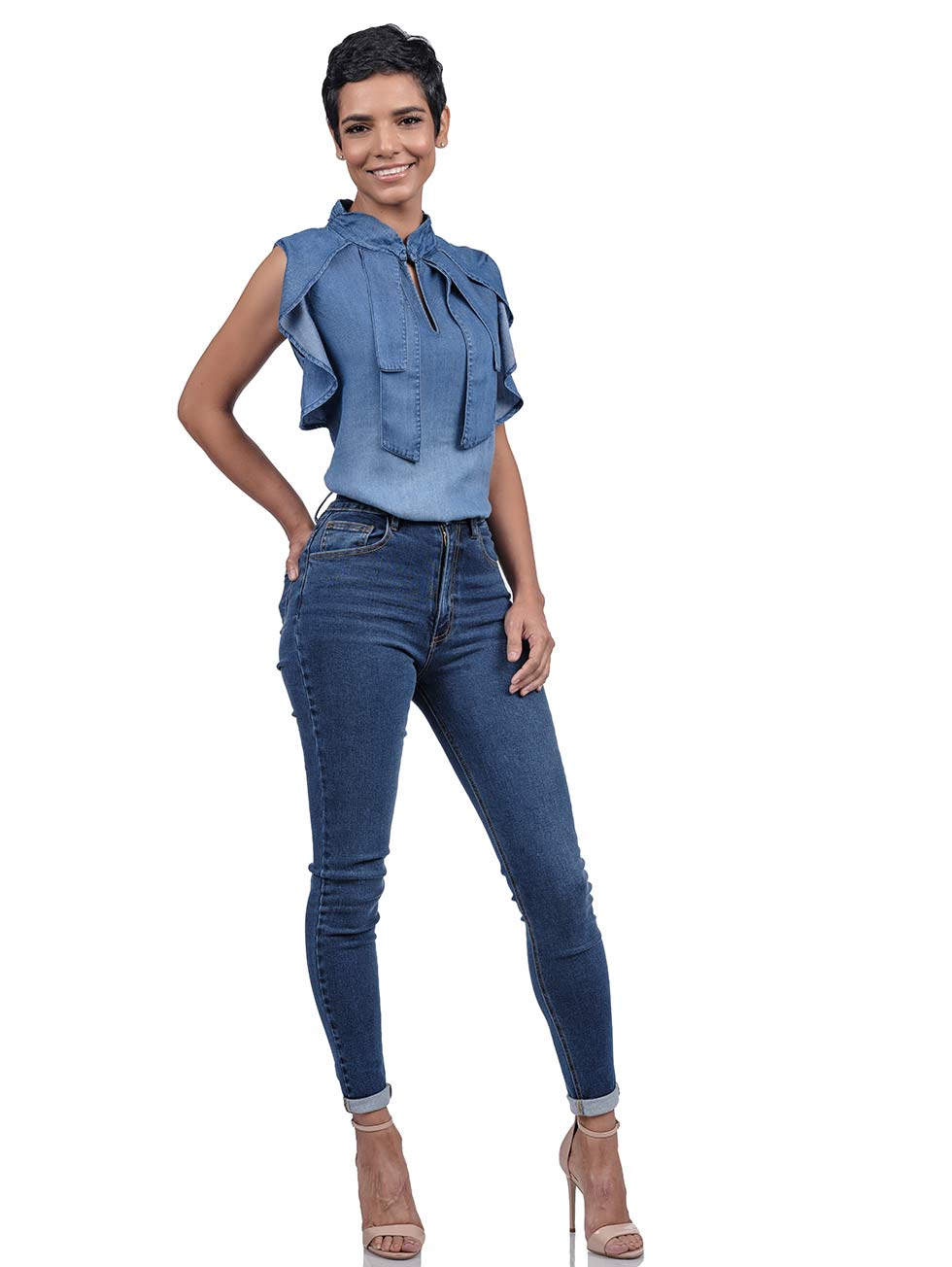 View: 1: Aimae Martha Denim Top
