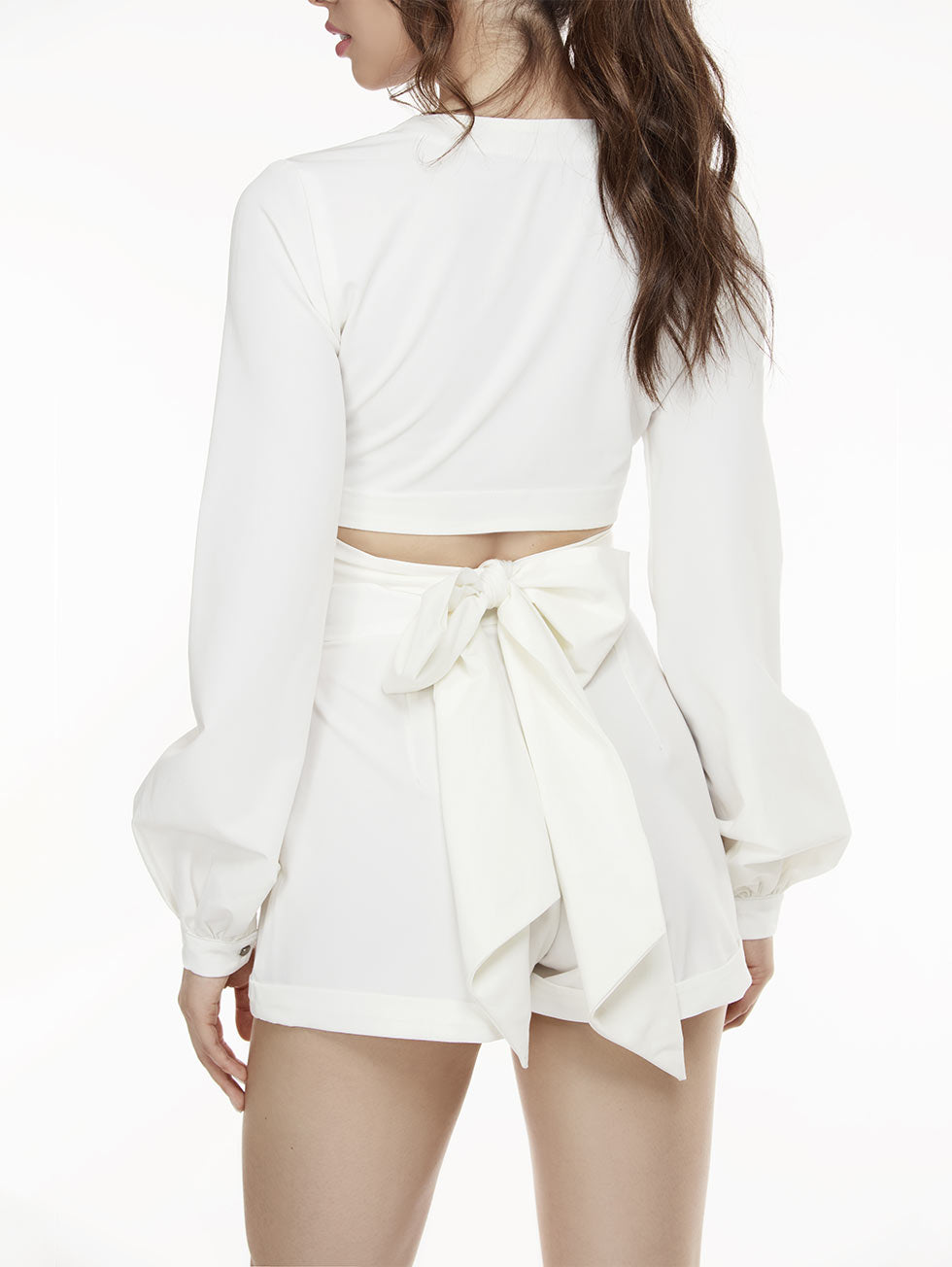 Dibi Wrap Crop Top White