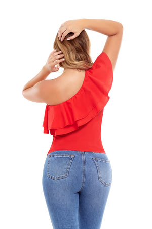 Mariangi One Shoulder Blouse