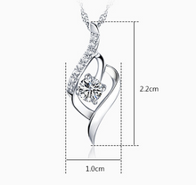Load image into Gallery viewer, Swiss Crystal Twist Necklace