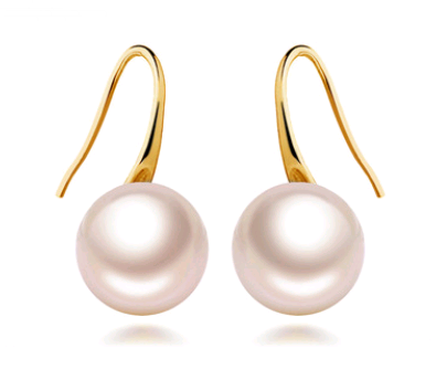 Simple Pearl Hook Earrings