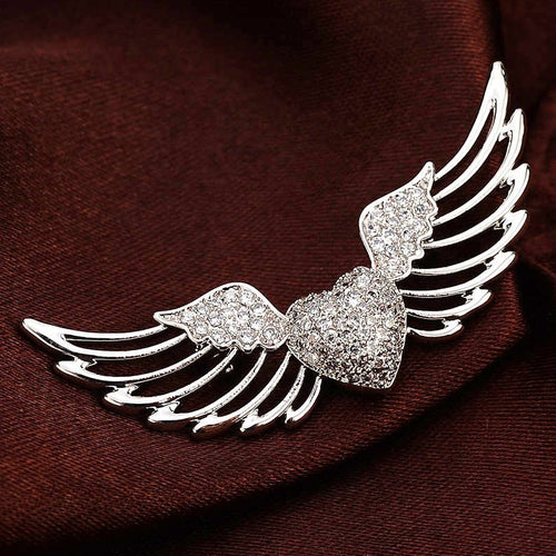Angel Heart Wing Brooch