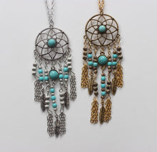 Load image into Gallery viewer, Boho Dreamcatcher Necklace