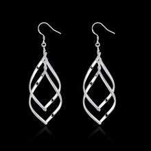 Load image into Gallery viewer, Long Double Twist Earrings