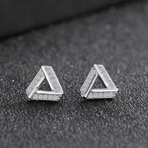 Austrian Crystal Triangle Earrings