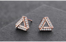 Load image into Gallery viewer, Austrian Crystal Triangle Earrings