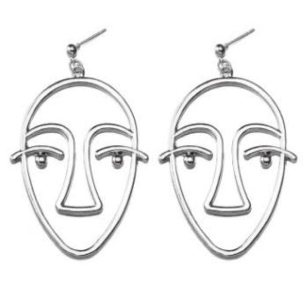 The Unrevealed Face Earrings