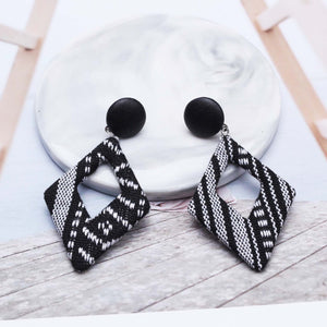 Rhombic Fabric Earrings