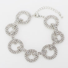 Load image into Gallery viewer, Swiss Crystal Disc Bracelet