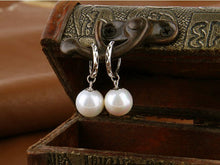 Load image into Gallery viewer, Faux Pearl Hoop Drop Earrings