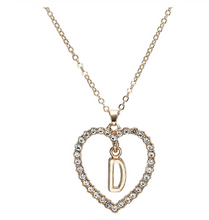 Load image into Gallery viewer, Replica Diamond Initial Heart Necklace