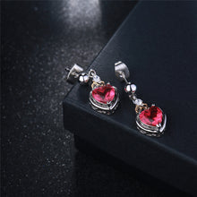 Load image into Gallery viewer, Rose Heart Stud Earrings