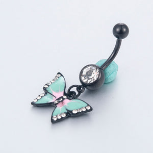 Stunning Crystal Butterfly Naval Ring