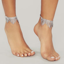 Load image into Gallery viewer, Austrian Crystal Tassel Anklet