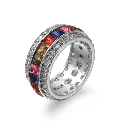 Harlequin Crystal Ring