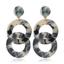 Load image into Gallery viewer, Geometric Double Ring Earrings