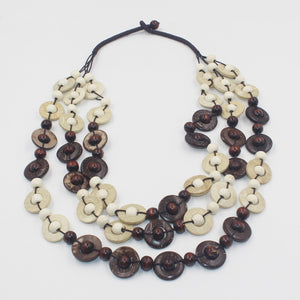 Bohemian Coconut Shell Necklace