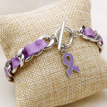 Load image into Gallery viewer, Purple Ribbon Bracelet