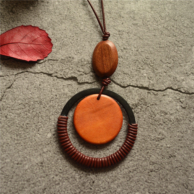 Wooden Disc Pendants