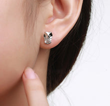 Load image into Gallery viewer, Owl Crystal Stud Earrings