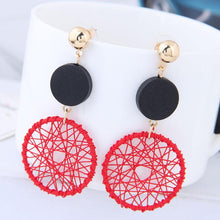 Load image into Gallery viewer, Geometric Weave Earrings