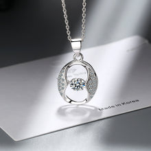 Load image into Gallery viewer, Austrian Crystal Swirl Necklace