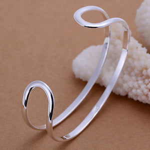 Elongated Hoop Bangle