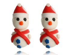Load image into Gallery viewer, Cute Snowman Christmas Earrings