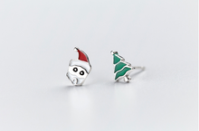 Load image into Gallery viewer, Rosy Apple Christmas Earrings
