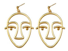 Load image into Gallery viewer, The Unrevealed Face Earrings