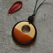 Load image into Gallery viewer, Hand Carved geometric Wooden Pendants