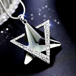 Swiss Crystal Star Necklace