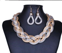 Load image into Gallery viewer, Dubai African Mysterious Necklace Earrings Set
