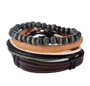 Multi Layer Leather Wristbands