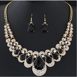 Ice Crystal Earring and Necklace Set