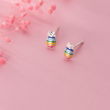 Load image into Gallery viewer, Rainbow Pineapple Earrings