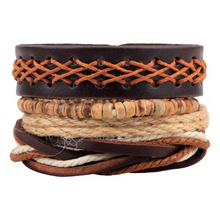 Load image into Gallery viewer, Multi Layer Leather Wristbands